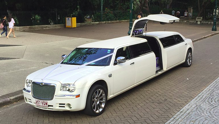 limousine on road
